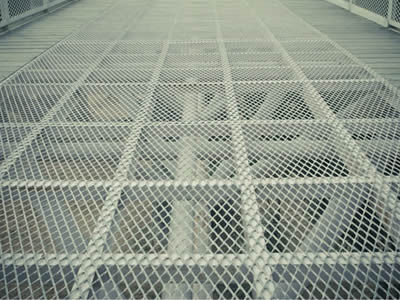 A wide range of expanded metal grating flooring in application.